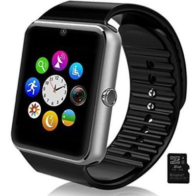 Smartlife-Sweatproof-Smart-Watch-Phone-for-iPhone-5s66s-and-42-Android-or-Above-SmartPhones-Include-8G-Micro-SD-Card-0