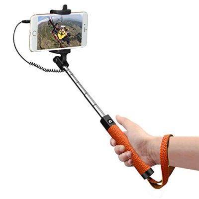 TAIR-Battery-Free-Self-Portrait-MonopodWired-Selfie-Stick-with-Built-in-Remote-Shutter-0