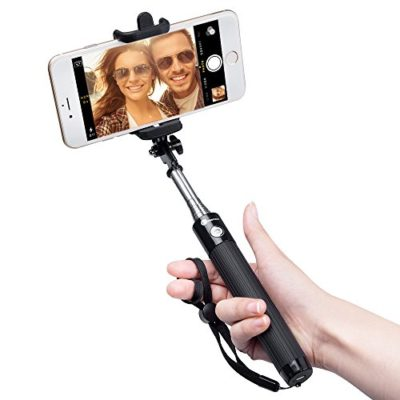 TaoTronics-Selfie-Stick-with-Built-In-Remote-Shutter-Bluetooth-Pairing-31-Inch-Extendable-Arm-270-Degree-Rotation-Adjustable-Phone-Holder-Pocket-Size-iOS-Android-0