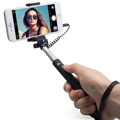 TaoTronics-Telescopic-Monopod-Mini-Selfie-Stick-for-Android-and-iOS-Smartphone-Black-0