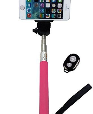 UFCIT-RI-C056-Extendable-Monopod-Selfie-Stick-with-Adjustable-Phone-Holder-and-Bluetooth-Wireless-Remote-Shutter-0