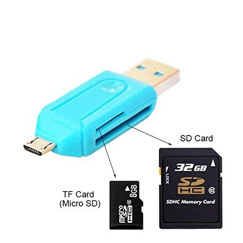 Universal 2in1 Micro USB 2.0 OTG Adapter SD TF Flash