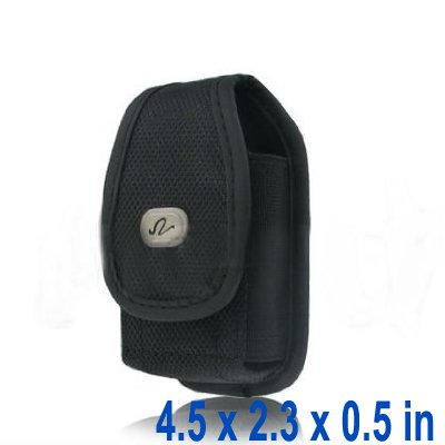 Universal-Heavy-Duty-Rugged-Nylon-Canvas-Protective-Carrying-Cell-Phone-Case-Pouch-with-Metal-belt-Clip-for-Medium-Sized-Flip-Phones-Black-0