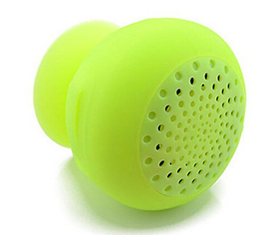 Wireless-Bluetooth-Shower-SpeakerMini-Phone-holder-mount-Hands-Free-speaker-phone-for-Showers-Pool-Boat-Car-Beach-Outdoor-Use-Compatible-with-all-Bluetooth-devices-Firefly-Green-0
