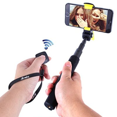 XGL-Hornbill-Bluetooth-Selfie-Stick-Self-portrait-Monopod-Extendable-Portable-with-Bluetooth-Remote-Shutter-for-Android-and-iOS-Smartphones-0