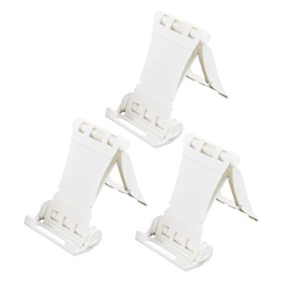uxcell-Cell-Phone-MP4-Ipad-Desktop-Holder-Stand-Foldable-Bracket-3PCS-White-0