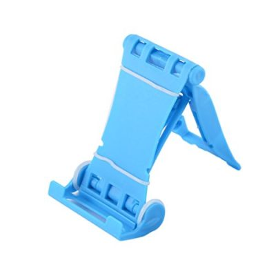 uxcell-Mobile-Cell-Phone-Ipad-Desktop-Holder-Stand-Foldable-Bracket-Blue-0