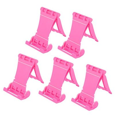 uxcell-Universal-Adjustable-Bracket-Cell-Phone-Ipad-Stand-Holder-5PCS-Pink-0