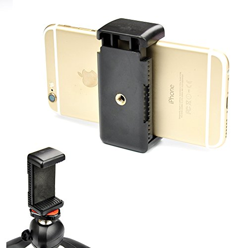 Accmor-Universal-Tripod-Mount-Adapter-for-Smart-Phones-23-33-Wide-Holder-Clip-Attachment-Clamp-for-iPhone-6-Plus-5S-5C-5-4S-4-ipod-Samsung-Galaxy-S6-S5-S4-S3-Note-4-3-2-LG-G3-G2-HTC-One-M8-Motorola-Mo-0