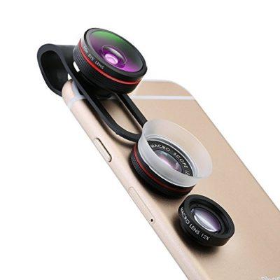 Fisheye-Lens-Pictek-Clip-On-3-in-1-Fisheye-12X-Macro-24X-Super-Macro-Phone-Camera-Lens-Kit-for-iPhone-66s6PlusiPhone77Plus-iOS-and-Android-Smartphones-0