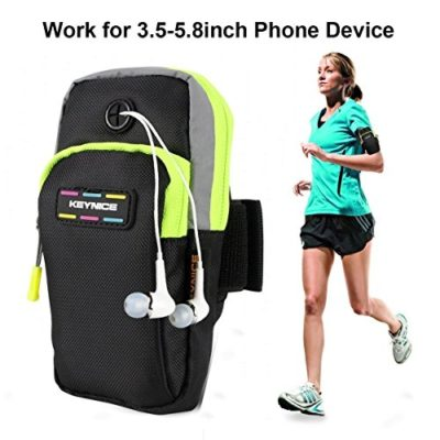 KeyniceTM-Sports-Armband-Multifunctional-Pockets-Workout-Running-ArmBag-for-iphone6-6plus-5-5s-5cGalaxy-S5S4S3Note-2-3-4-and-all-3558-smartphone-0