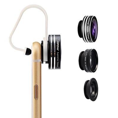 Mpow-3-in-1-Clip-On-180-Degree-Supreme-Fisheye-Lens-067X-Wide-Angle-Lens-10X-Macro-Lens-kit-for-iPhone-6-6s6Plus-iOS-Android-Smartphones-0