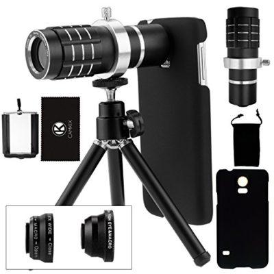 Samsung-Galaxy-S5-Camera-Lens-Kit-including-a-12x-Telephoto-Lens-Fisheye-Lens-2-in-1-Macro-Lens-and-Wide-Angle-Lens-Mini-Tripod-Universal-Phone-Holder-Telephoto-Lens-Holder-Ring-Hard-Case-for-S5-Velve-0