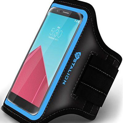 Stalion-Sports-Exercise-Gym-Running-Armband-Case-Universal-for-ALL-Smartphones-LG-Sony-HTC-Nokia-Huawei-ZTE-Google-Nexus-Motorola-Blackberry-Asus-BLU-Samsung-47-55-Inch-DisplayCyan-Blue-0
