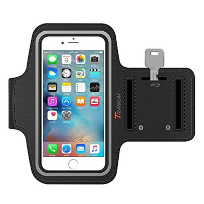 Trianium-Armband-For-iPhone-66S-PLUS-LG-G5-Note-345-with-case-fits-with-Otterbox-Defender-Lifeproof-case-ArmTrek-Pro-Exercise-Running-Pouch-Key-Holder-Good-For-Hiking-Biking-Walking-Black-0