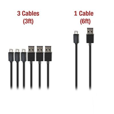 Zakix-4-Pack-Premium-Micro-USB-Cable-Pack-3-x-3FT-1-x-6FT-Cables-High-Speed-USB-20-Type-A-to-Micro-B-Sync-and-Charge-Samsung-Galaxy-HTC-Motorola-LG-Smartphones-Android-Tablets-Phones-0
