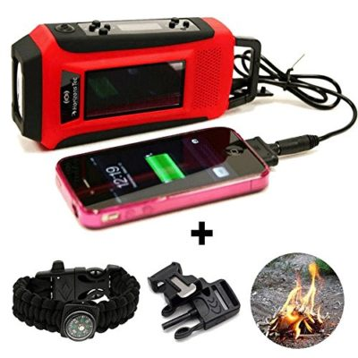 Horizons-Tec-HT-747-Emergency-NOAA-Weather-Radio-Solar-Hand-Crank-Powered-Mobile-Cell-Phone-Charger-Led-Flashlight-Paracord-Survival-Kit-Bracelet-Magnesium-Flint-Fire-Starter-Compass-Whistle-0