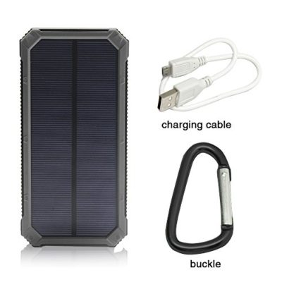 Solar-Charger-Solar-External-Battery-Pack-iBeek-Portable-10000mAh-Dual-USB-Solar-Battery-Charger-Power-Bank-Phone-Charger-with-Carabiner-LED-Lights-for-Emergency-Cell-Phones-Tablet-Camera-0