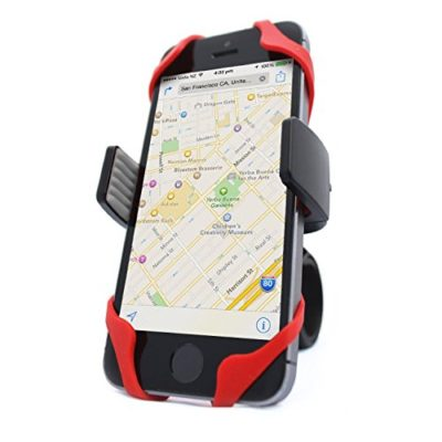 Vibrelli-Universal-Bike-Phone-Mount-Holder-Fits-any-Smart-Phone-iPhone-7-7-Plus-6-Plus-6S-5S-5-4-Bike-Mount-for-Samsung-Galaxy-S5S4S3-Google-Nexus-Nokia-Motorola-Bicycle-Handlebar-Motorcycle-Compatibl-0