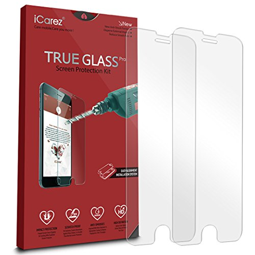 iCarez-Tempered-Glass-Screen-Protector-for-iPhone-7-Plus-55-inch-Highest-Quality-Easy-Install-033MM-9H-25D-2-Pack-with-Lifetime-Replacement-Warranty-0