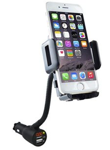 3-in-1-Cigarette-Lighter-Car-Mount-Voltage-Detector-SOAIY-Car-Mount-Holder-Cradle-wDual-USB-31A-Display-Voltage-Current-Compatible-with-iPhoneXS-XS-Max-XR-X-8-7-6s-6-5s-Samsung-S8-S7-S6-S5-0