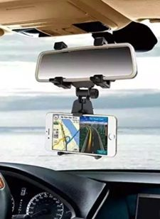 GBSELL-Car-Rearview-Mirror-Mount-Holder-Stand-Cradle-For-Cell-Phone-GPS-0