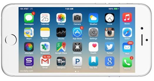 Girar la pantalla de inicio del iPhone