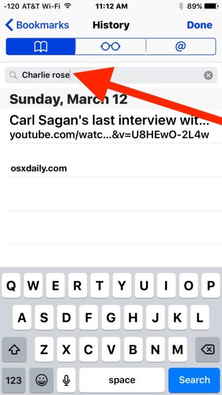 Buscar en el historial del navegador Safari en iPhone y iPad
