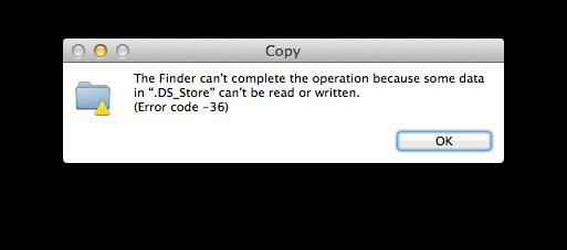 Código de error 36 de Mac