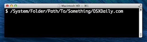 Ruta de archivo o carpeta en Mac OS X