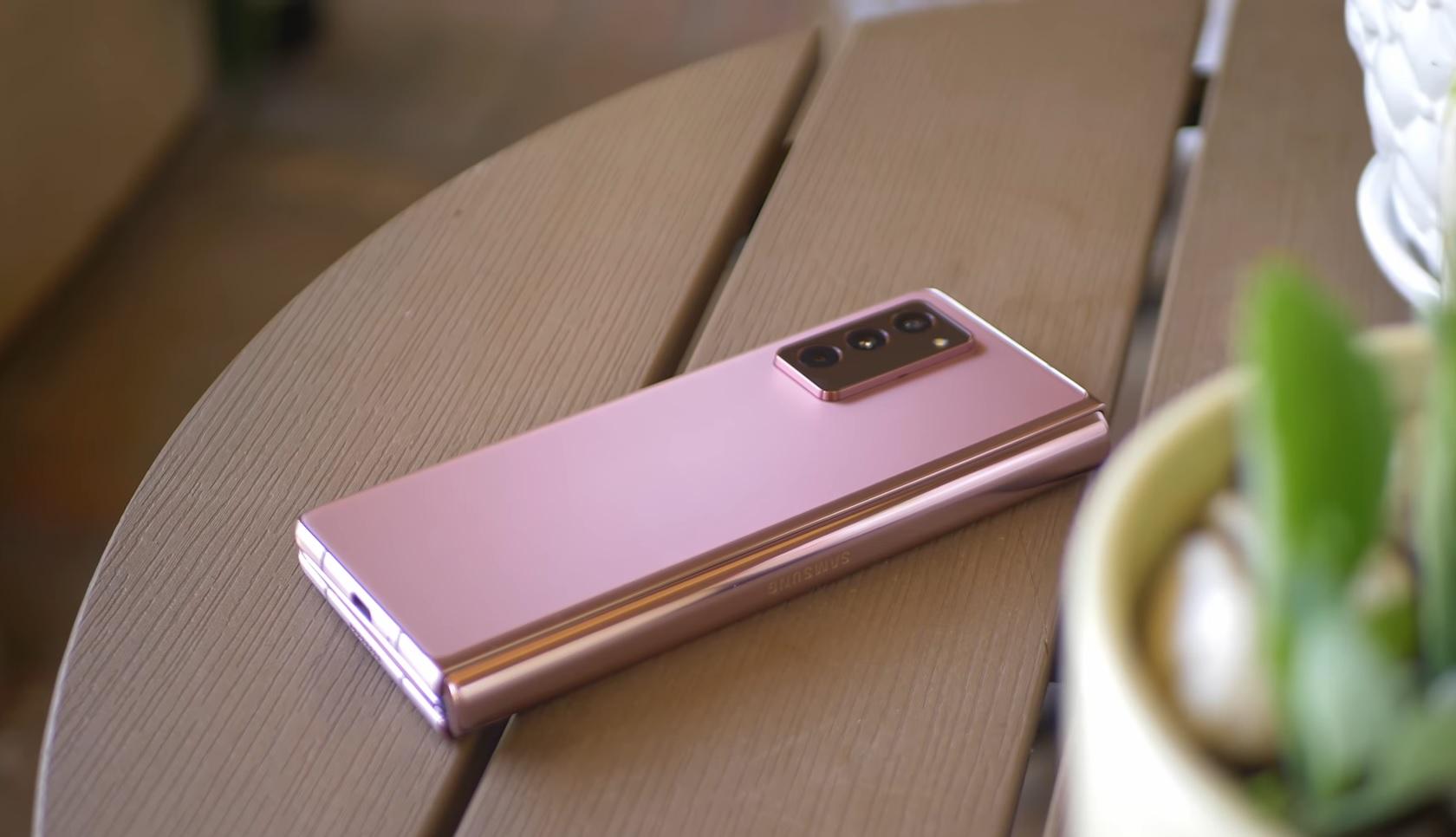 Samsung Galaxy Z Fold 2 On Desk