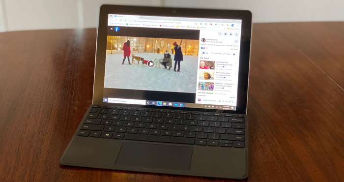 Laptop With Facebook Video 700px