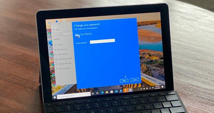 Windows 10 Change Password 700px
